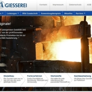 Screenshot WordPress Website Esterer Gießerei GbmH