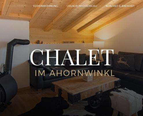 Screenshot WordPress Website Chalet im Ahornwinkl