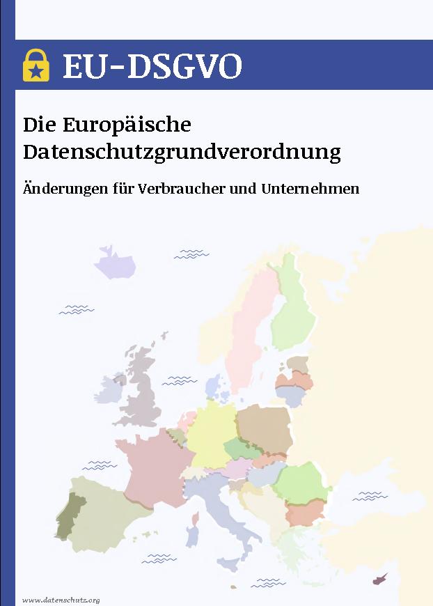 Cover E-Book zum Thema DSGVO des Berufsverbands der Rechtsjournalisten e.V.