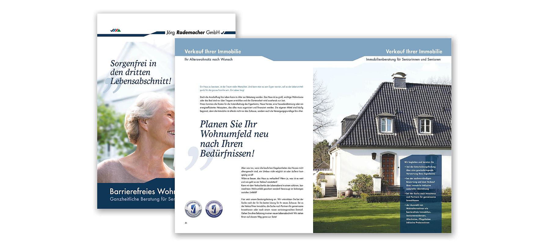 Broschüre Unternehmensgruppe Rademacher als Referenz von Die Konzepter