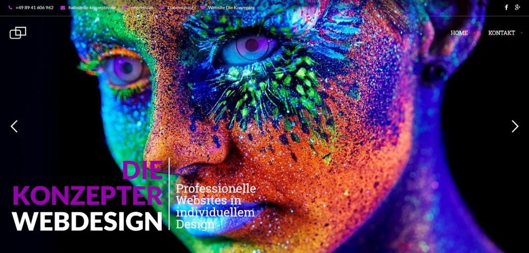 Cover Website Die Konzepter Webdesign