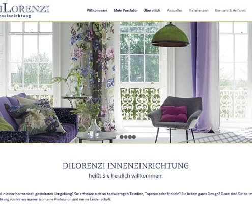 Screenshot WordPress Website Inneneinrichtung Dilorenzi