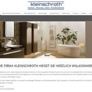 Screenshot von WordPress Website Handwerker Kleinschroth