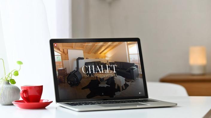 WordPress Website Ferienhaus Chalet im Ahornwinkl Home