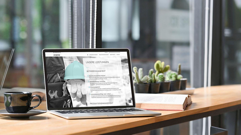 WordPress Website von Unternehmensberatung Fiventus Seite Home mit Leistungsuebersicht