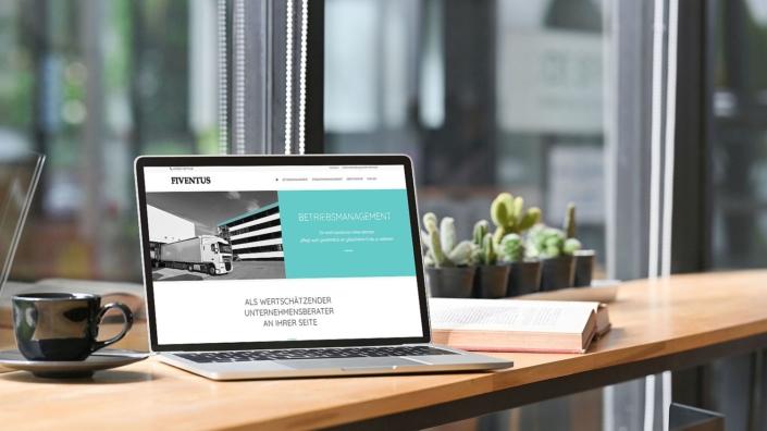 WordPress Website von Unternehmensberatung Fiventus Seite Betriebsmanagement