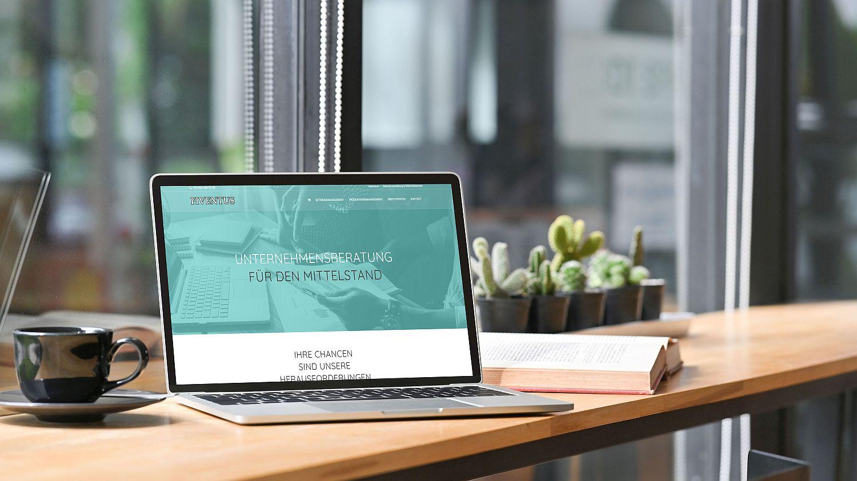WordPress Website von Unternehmensberatung Fiventus Seite Home mit Inhaltsslider