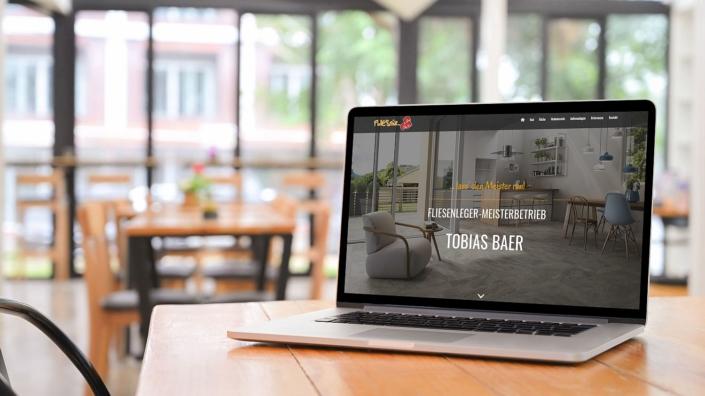 WordPress Website Firma Fliesnix Home