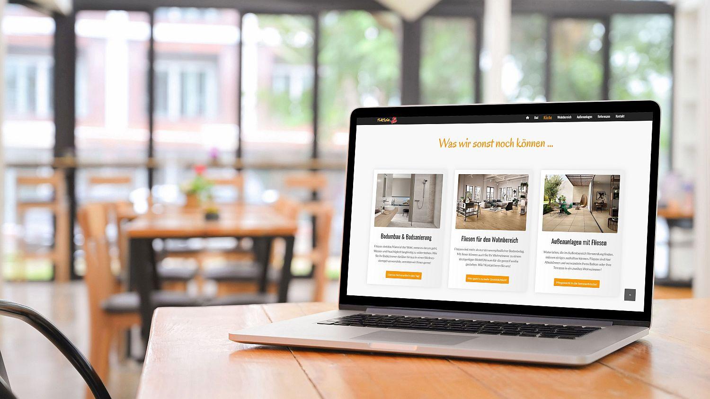 WordPress Website Firma Fliesnix Leistungen