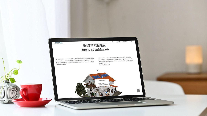 WordPress Website Firma Kleinschroth Seite Leistungen