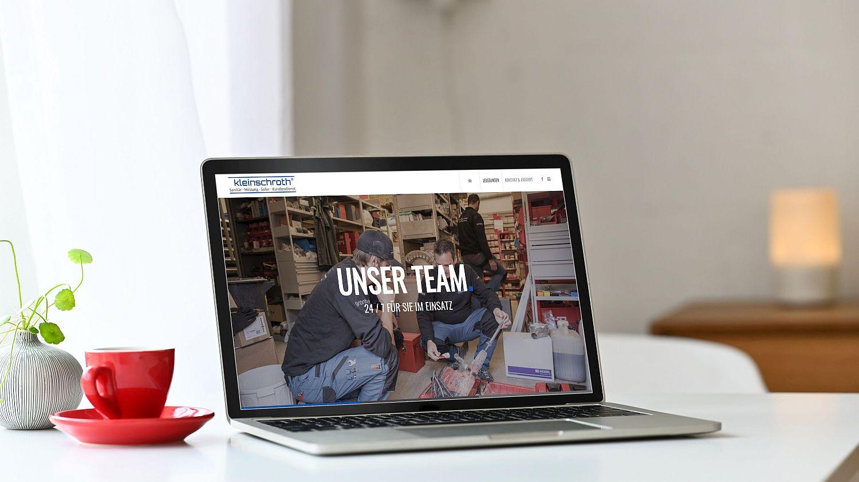 WordPress Website Firma Kleinschroth Seite Leistungen Team
