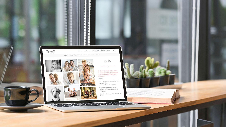 WordPress Website Moment Werkstatt Seite Familie